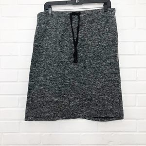Forever 21 + Plus Knit Casual Skirt Black Gray 1X